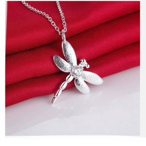 Sterling Silver 925 Dragonfly Pendant Necklace🌿🆕